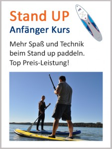 SUP paddeln Anfänger Kurs - Stand up paddling
