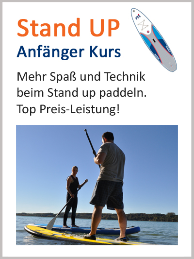 Kanuschule SUP paddeln Anfänger Kurs - Stand up paddling