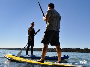 Kanuschule in Bayern - Stand up Paddling Kurs