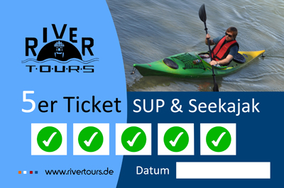 Seekajak & Stand up Paddeln 5er Ticket von Rivertours